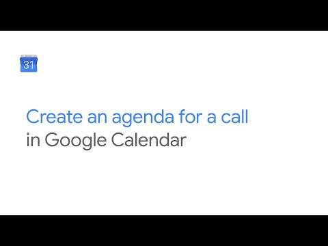 Create an agenda for a video conference from Google Calendar