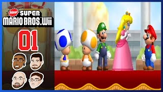 New Super Mario Bros Wii - Part 1: World 1 Shenanigans - GoofGroup Co-op Lets Play