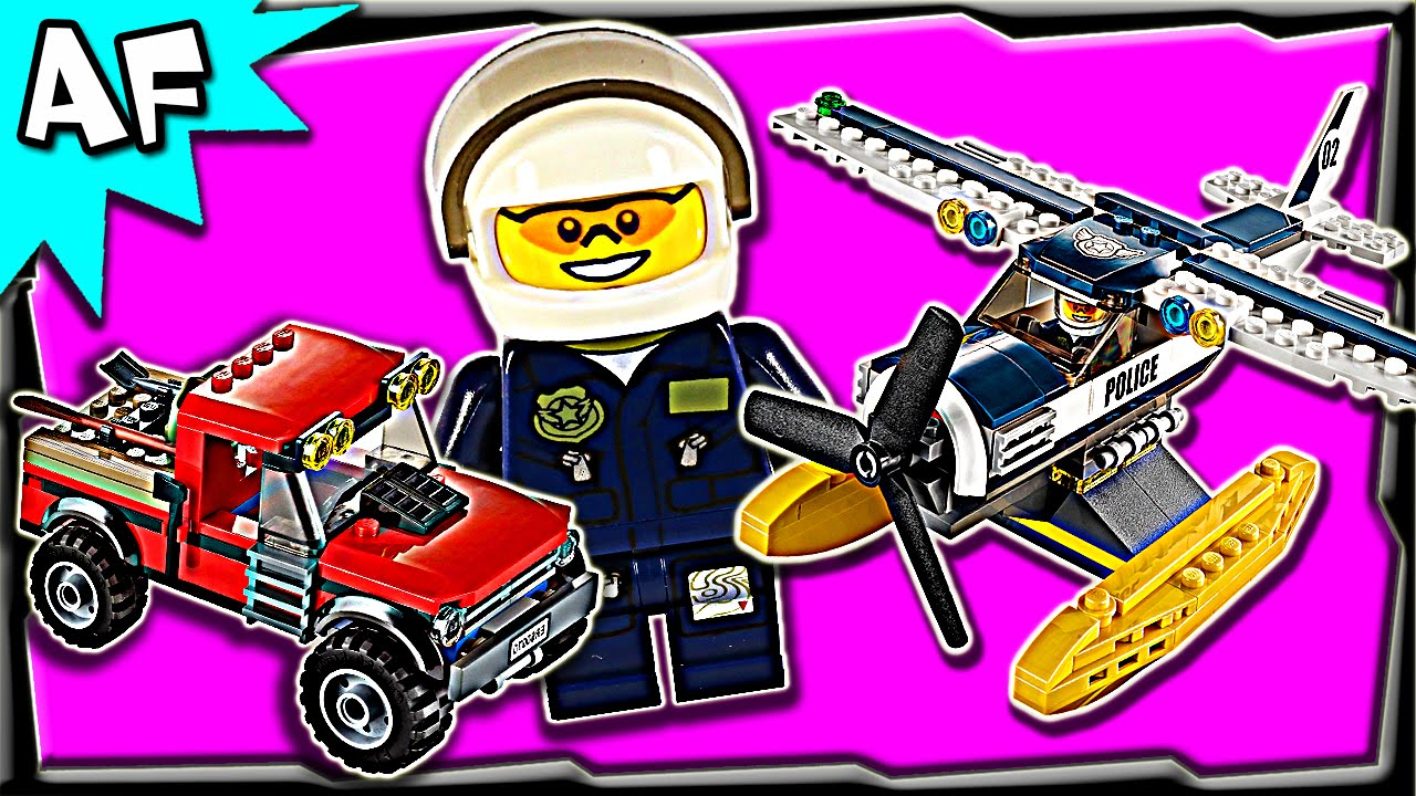 Lego City Swamp Police WATER PLANE CHASE 60070 Stop Motion ...