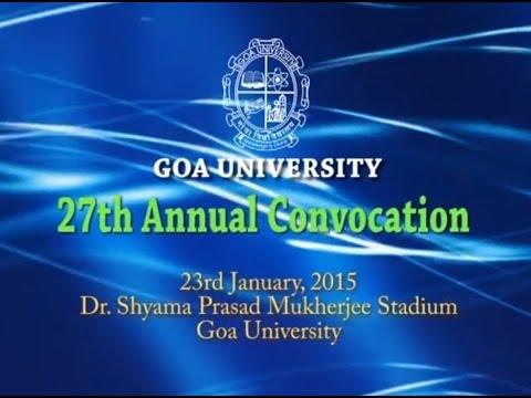 27TH ANNUAL CONVOCATION OF GOA UNIVERSITY