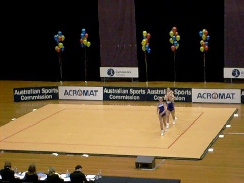 Sport Aerobics Trio At Australian Championships
