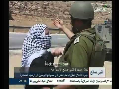 Israeli soldiers attack Palestinian children in Nabi Saleh and arrest their mother