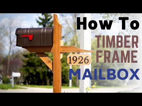 How To Make A Timber Frame Mailbox // DIY Home Improvement