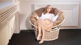 видео Кресло PAPASAN вращающееся (кресло-качалка Папасан) в цвете мёд, коньяк, олива, кофе, шоколад