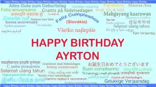 Ayrton   Languages Idiomas - Happy Birthday