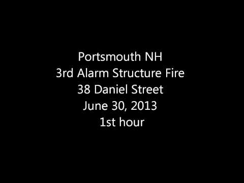 Portsmouth, NH 3rd Alarm Building Fire 2013-6-30