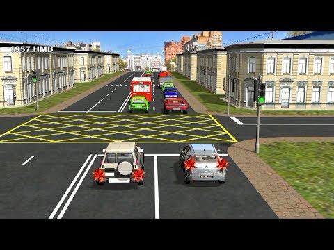 Видеоурок вождение на перекрестках