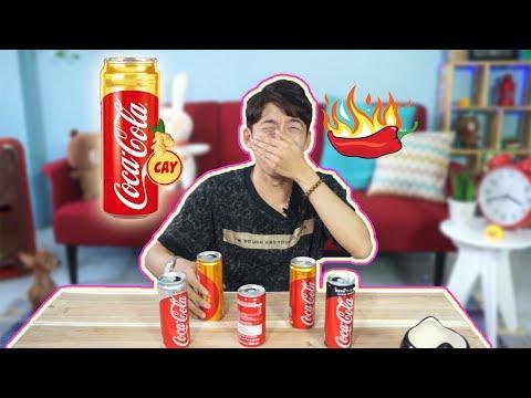 Uống Thử Coca Cola Vị CAY mới - So Sánh Các Vị Coca