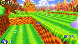 Sonic Utopia Demo: Green Hill Zone (1:11.98) Speedrun