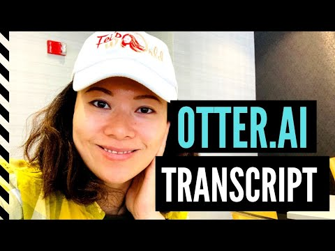 How I use the Otter ai transcription service for my podcast