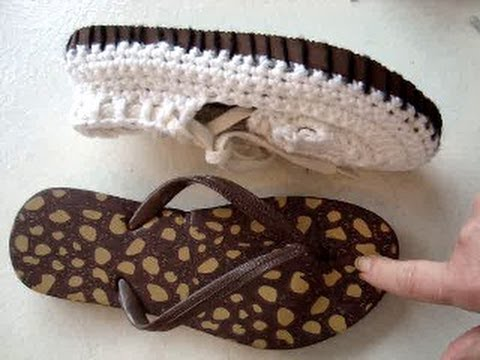Add Rubber Soles To Crochet Sandals How To Make Outdoor Crochet