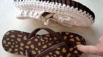 4a31872751 Zapatos tejidos con suela de chancla de goma - YouTube