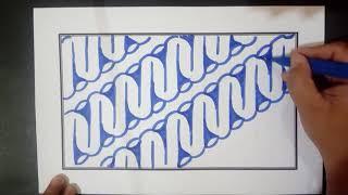 Belajar Membuat Batik Motif Parang Dengan Mudah Dan Cepat