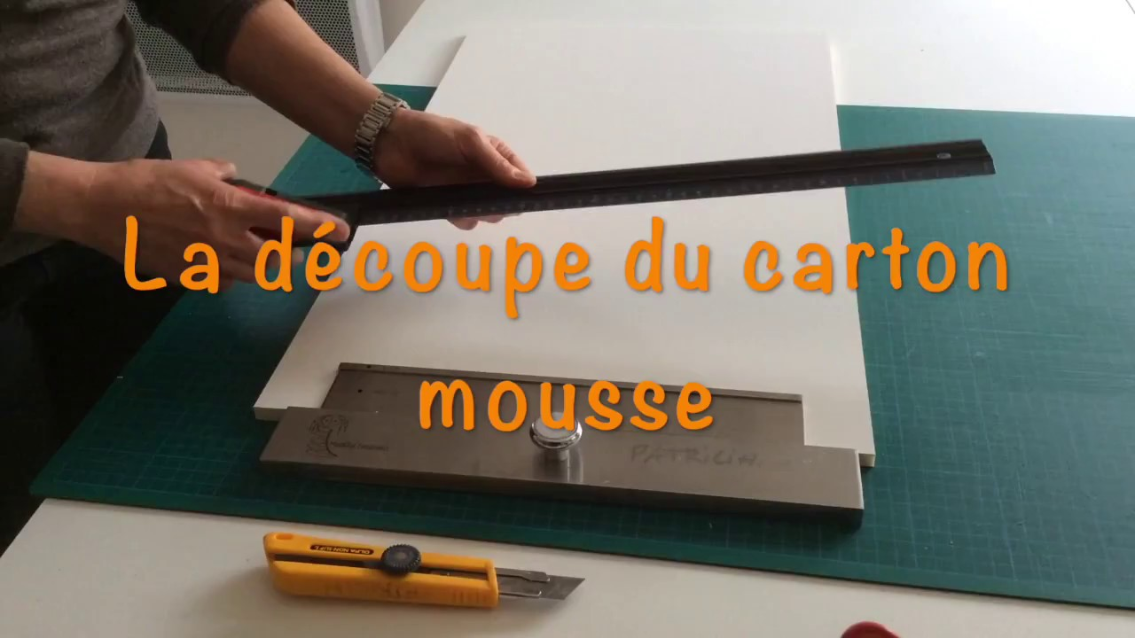 la d coupe du carton mousse youtube. Black Bedroom Furniture Sets. Home Design Ideas