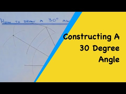 How To Draw A 30 Degree Angle With A Compass And Ruler (No Protractor)