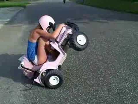 hot girl rides 24v Power wheels
