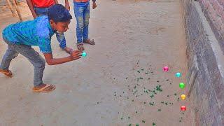 Interesting Marbles Game ||| Interesting Goli Game Kancha