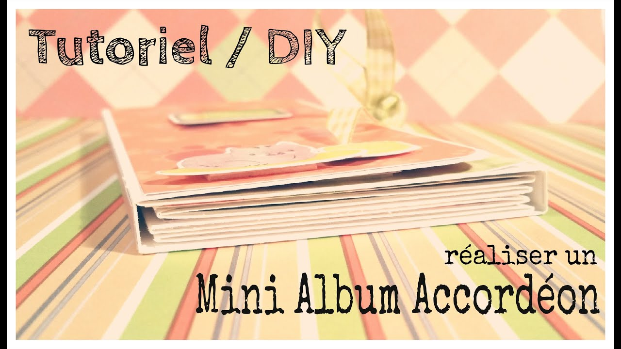tutoriel diy r aliser un mini album accord on make a fanfold mini album youtube. Black Bedroom Furniture Sets. Home Design Ideas
