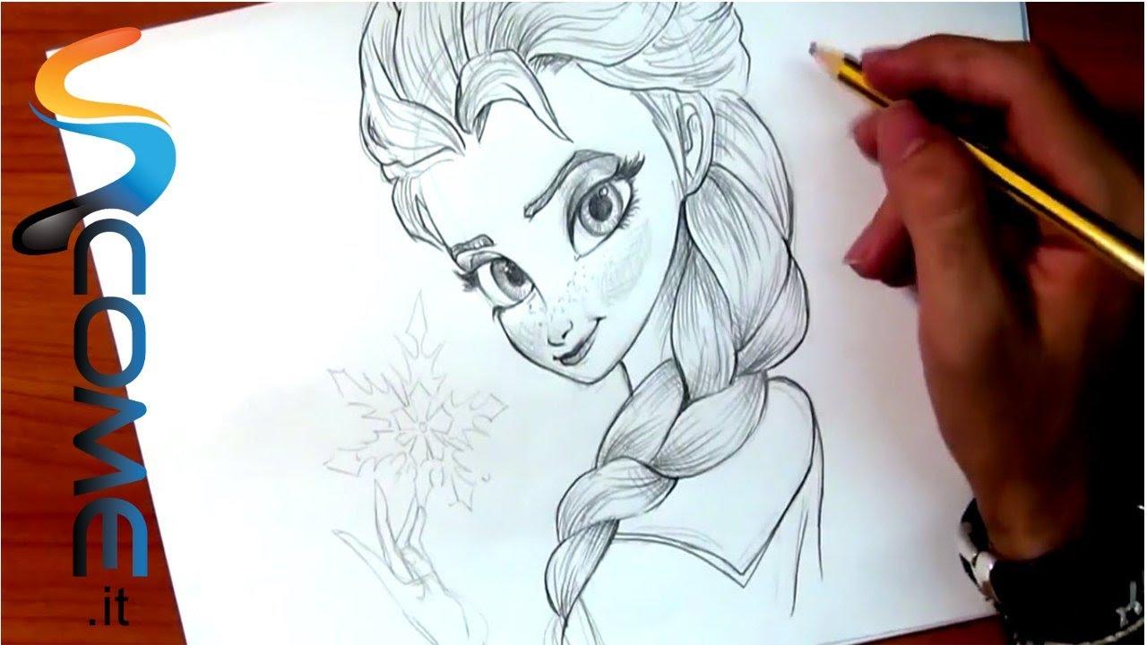 Disegna Elsa Del Cartone Frozen Il Regno Di Ghiaccio Youtube