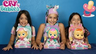 CRY BABIES TOYS | Interactive Baby Dolls Cry REAL Tears | Toy Review