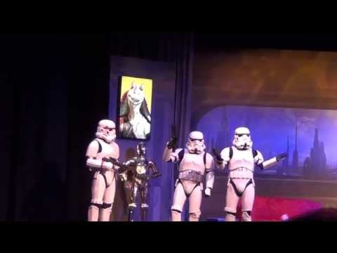 StormTroopers Before Stars of the Saga Talk Show at Star Wars Weekends 2014, Sing the Frozen Song!