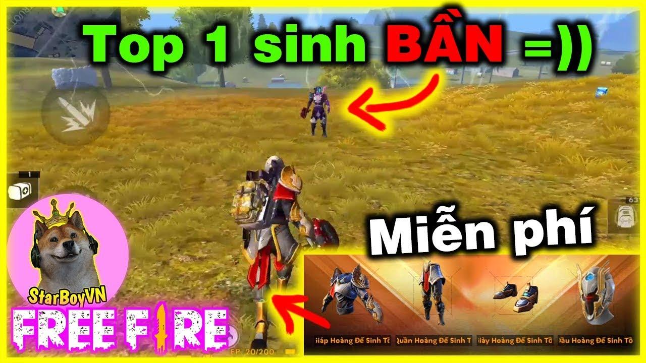 Free Fire Nhận Miễn Phi Skin Hoang đế Sinh Tồn Chơi Gặp Top 1 Sinh Bần Starboyvn Youtube