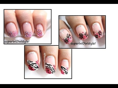 3 Designs: Pink Flirty Tips | Nail Art For Valentine's Day