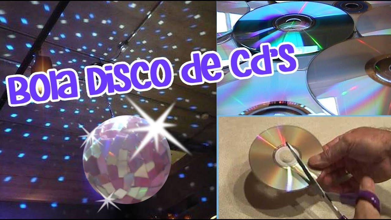 Chuladascreativas bola disco reciclando cd s - Manualidades con discos ...