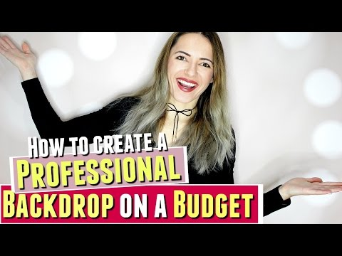 HOW TO Create a PROFESSIONAL BACKDROP space on a BUDGET for FILMING, Filming setup on budget