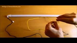 видео светодиодные лампы т8