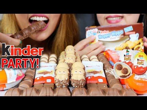 ASMR KINDER CHOCOLATE PARTY 초콜릿 리얼사운드 먹방 | Kim&Liz ASMR