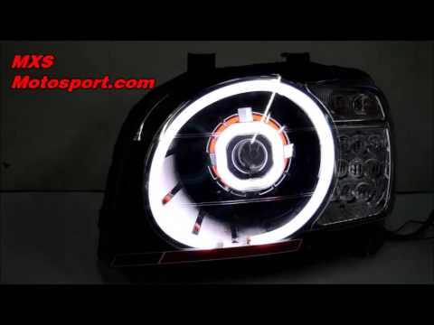 v548 robotic eye daytime projector headlight mahindra scorpio by mxs motosport youtube. Black Bedroom Furniture Sets. Home Design Ideas