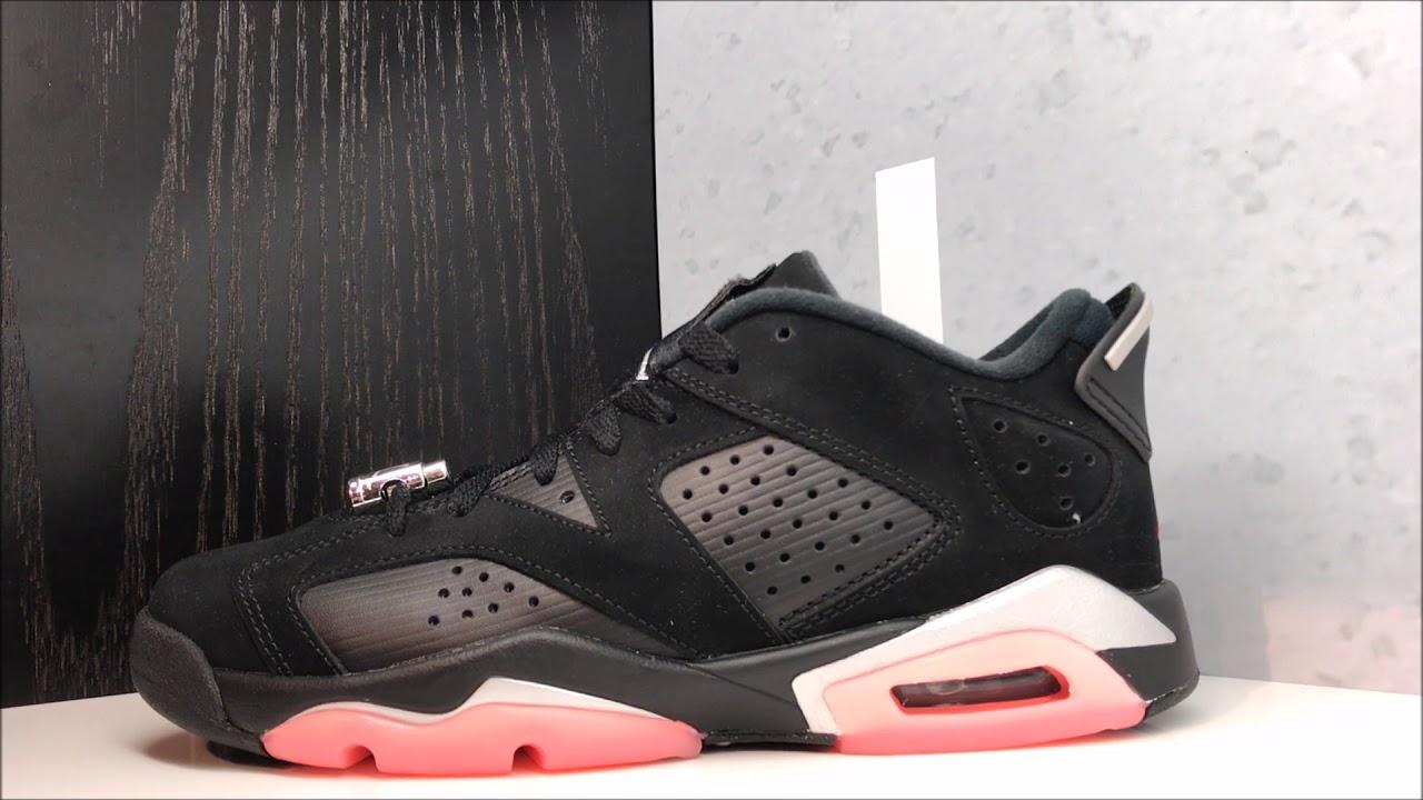hot sales 0749e 29649 Air Jordan 6 Low Black Sunblush Chrome Sneaker Review