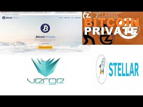 NEW BITCOIN PRIVATE WEBSITE, STELLAR LUMENS IN THE NEWS, VERGE COIN RISING IN PRICE!!