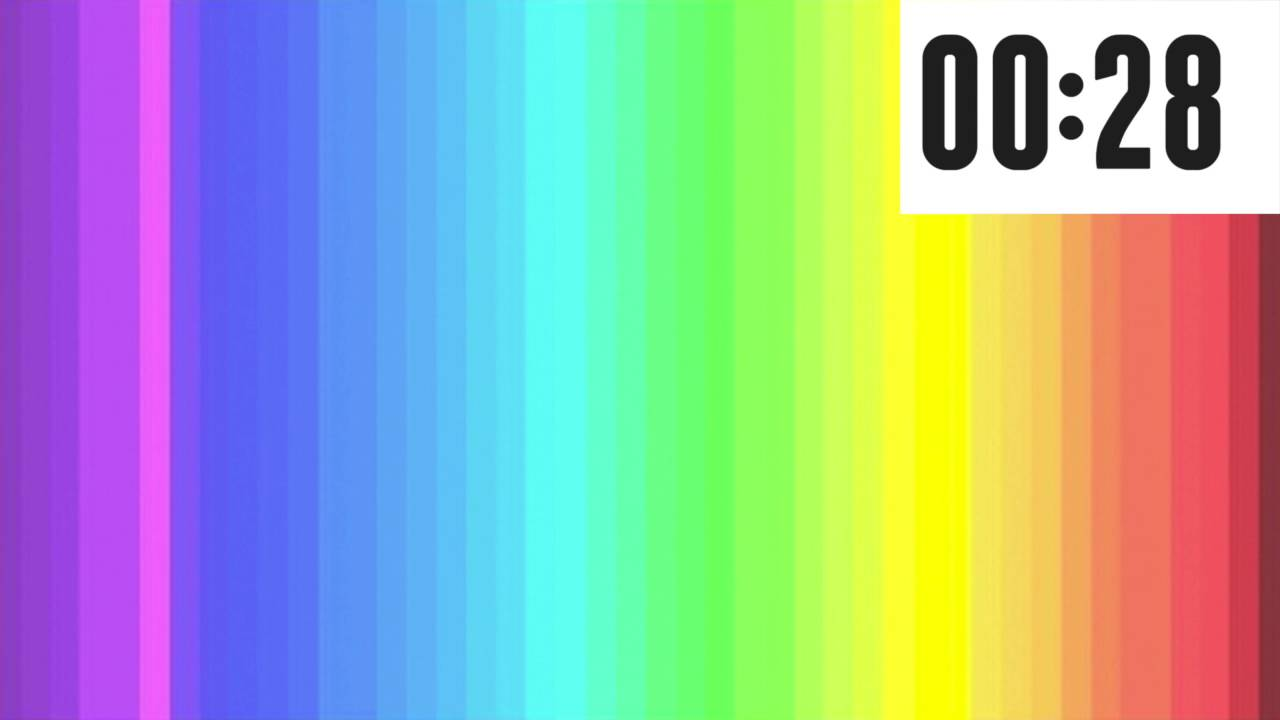 how many colors can you see the rainbow color test