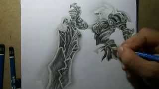 Repeat youtube video Pencil Drawing - Riven championship with Copenhagen Wolves logo