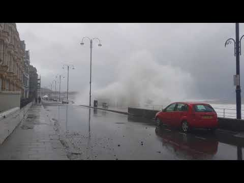 Storm Brian Hits Aberystwyth - 21st October 2017