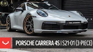 Porsche 992 Carrera 4S   Vossen S21-01 (3-Piece)