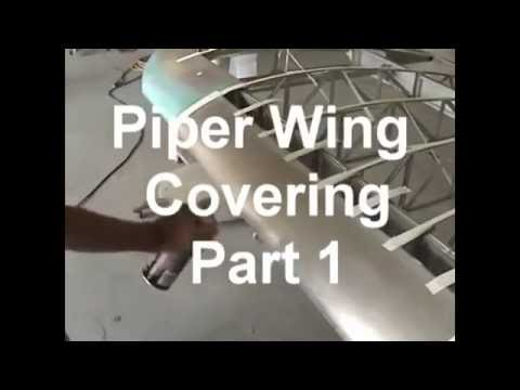 Piper Wing Covering 1   Gluing bottom surface