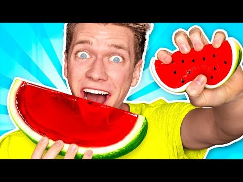 Making CANDY out of SQUISHY FOOD!!! *JELLO...