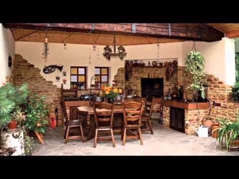 Уютные примеры летней кухни