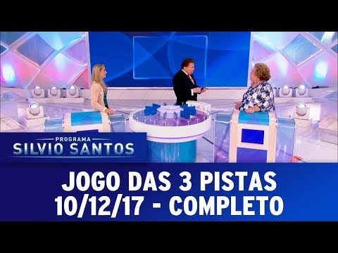 Jogo das 3 Pistas - Completo | Programa Silvio Santos (10/12/17)
