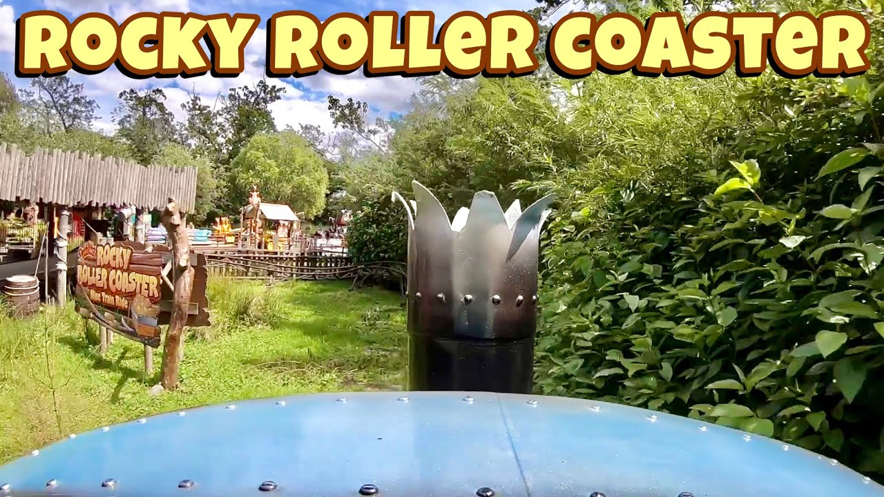 Rocky Roller Coaster On Ride POV HD GoPro