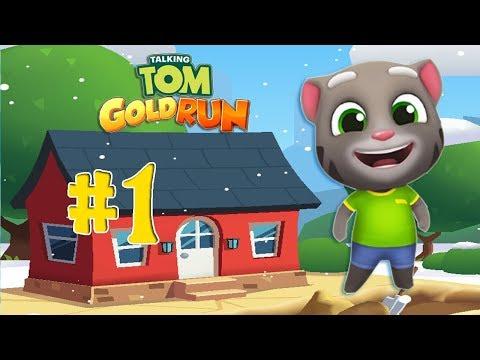 Веселый Говорящий Том Бег за золотом #1 Отбираем золото Тома у воришки