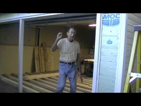 Garage Shop Conversion Part 6 Removing Garage Door  Build a Wallmov  YouTube