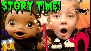 BABY ALIVE tells a SPOOKY STORY! The Lilly and Mommy Show! The TOYTASTIC Sisters! HALLOWEEN SKIT!