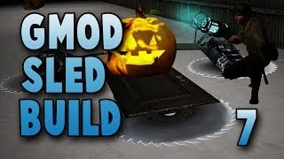 Pumpkin Space Ship Sled! (gmod Sled Build #7)
