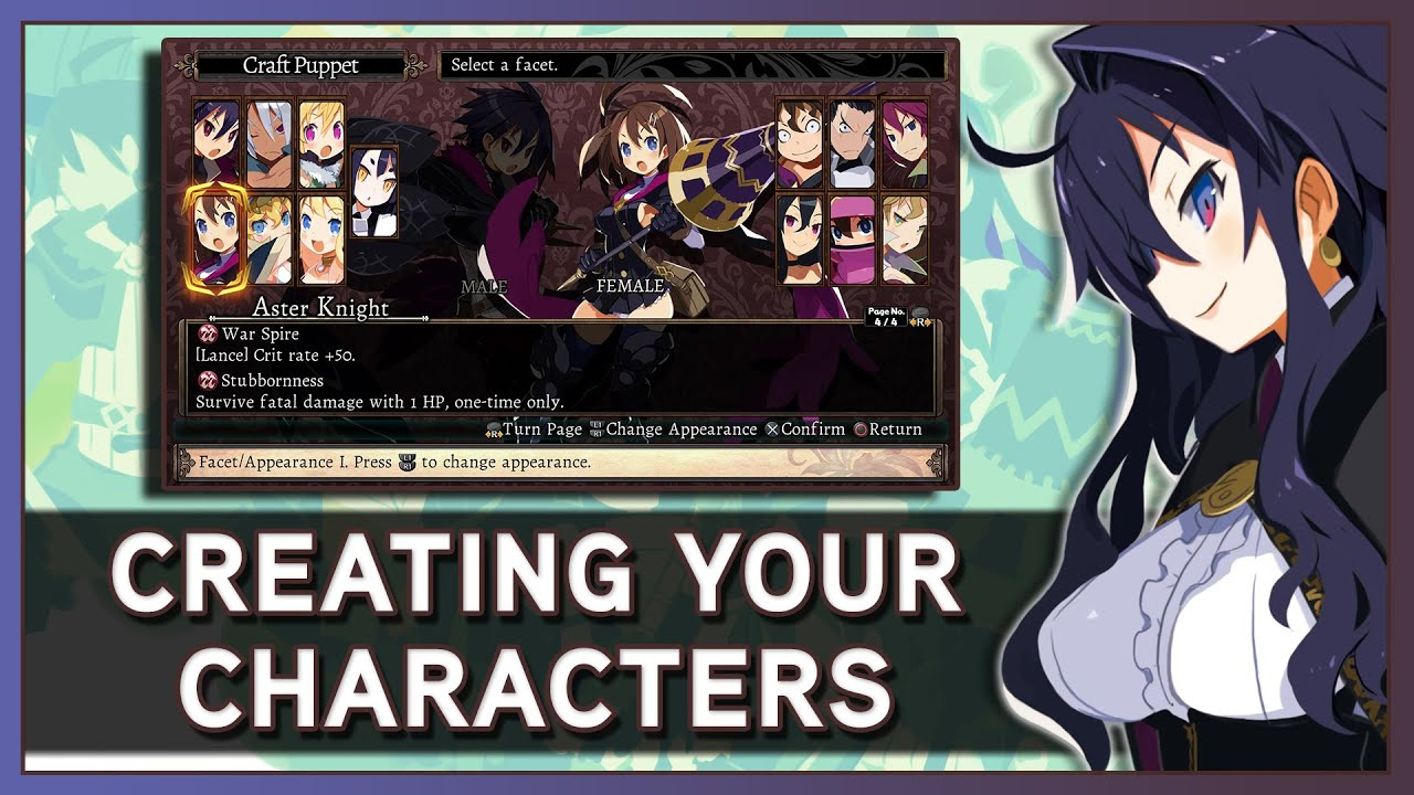 Labyrinth Of Refrain: Coven of Dusk - Creating Your Characters (Overview  Part 1)