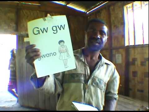 Alphabet of the Language Spoken at Weskokop Village, Huon Peninsula, Papua New Guinea