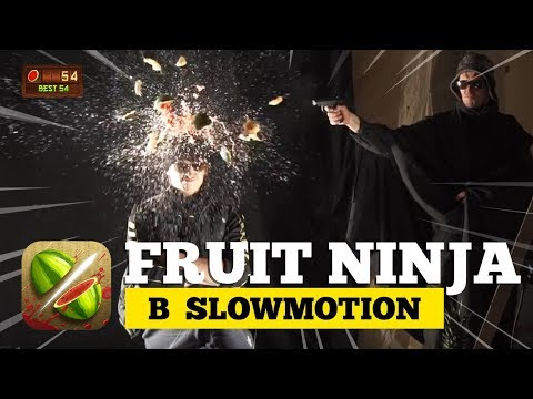 Смертельный Фрут Ниндзя в Slow Motion | Пранк или эксперимент?